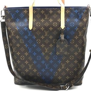 Authentic Louis Vuitton Monogram Cabas Jour Bleu